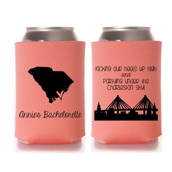 Bachelorette Party Favors Charleston Bachelorette Can Coolers