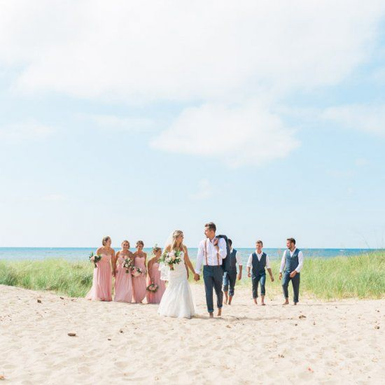 Real Michigan Beach Wedding The Wedding Story Of Olivia And Zach