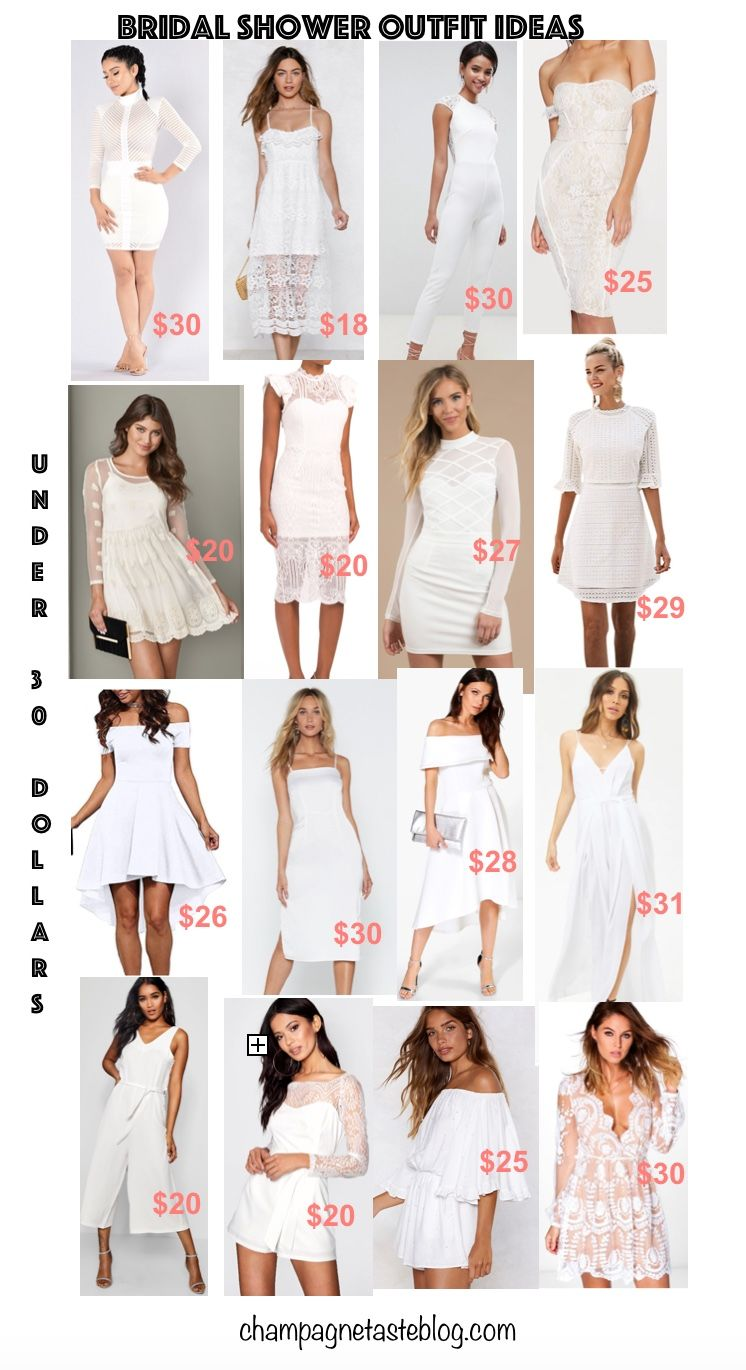 Feb 15 Little White Dresses Under 30 Bridal Shower Outfit