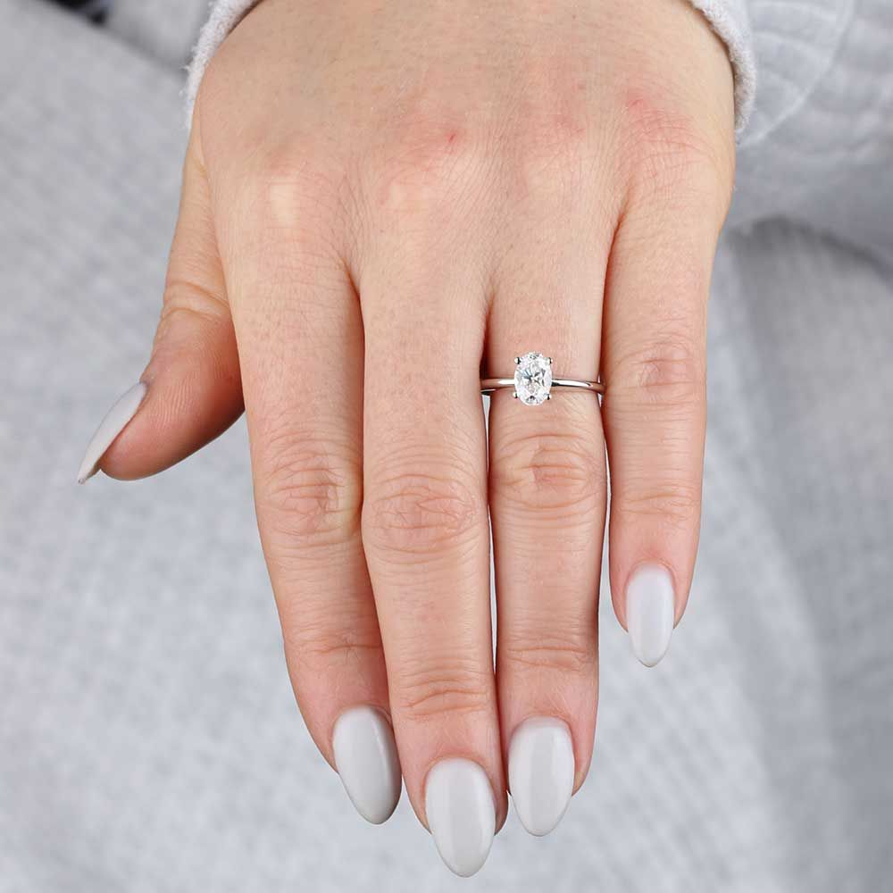 Oval Diamond Solitaire 14k 1 Ct Oval Diamond Solitaire