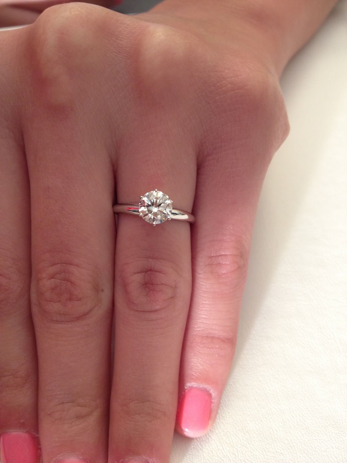 Something About A Round Solitaire Ring Is Just Simply Beautiful