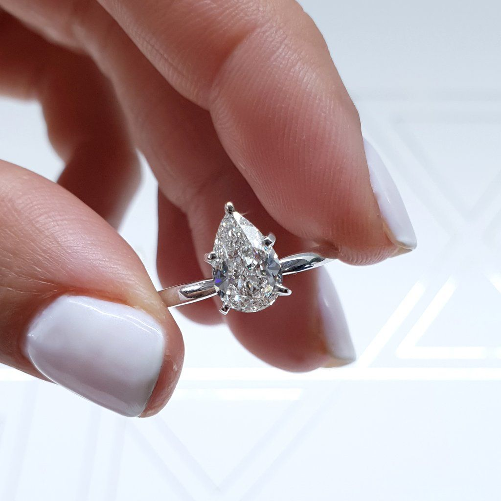 The Jessica Engagement Ring 1 Carat Pear Shaped Diamond