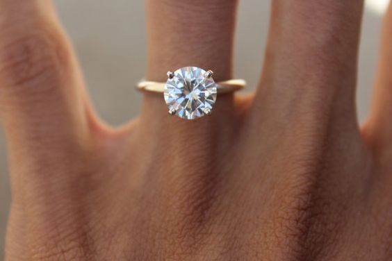 6 5mm 1 Carat Forever One Moissanite Solitaire Engagement Ring