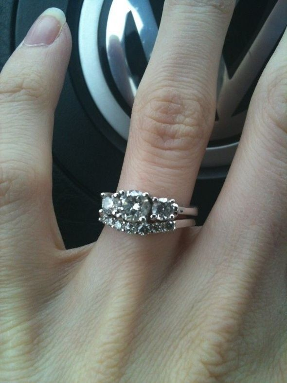 Show Me Your 3 Stone Rings With Wedding Band Updated With Pics