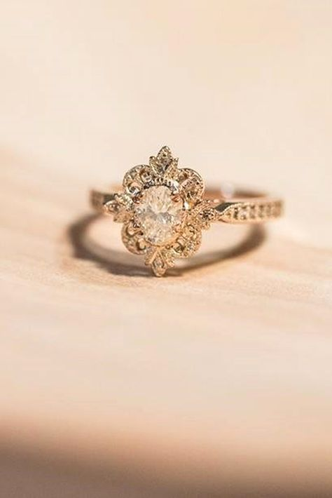 30 Outstanding Floral Engagement Rings Dugun Takilari Fashion