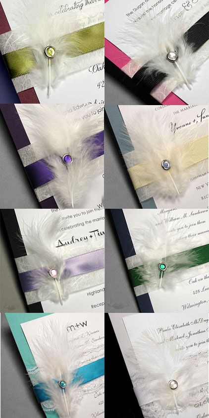 How To Make Wedding Invitations With Feathers Creative Wedding
