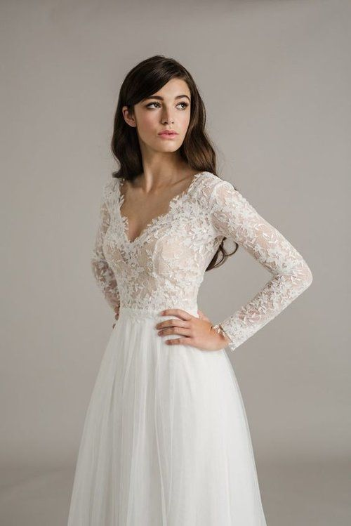 Find Your Perfect Long Sleeve Wedding Dress Silhouette Long