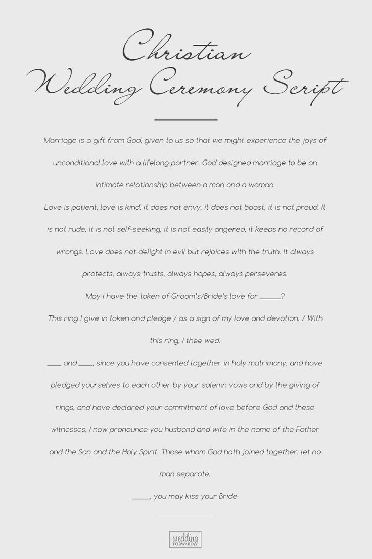 Wedding Ceremony Script For Each Wedding Type List For 2020