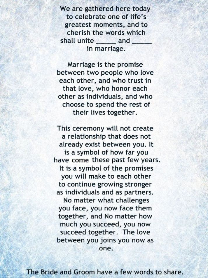 Wedding Ceremony Vows Non Traditional Wedding Officiant Script