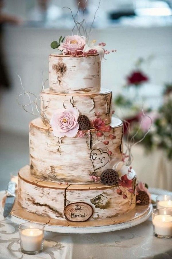 33 Dreamy Rustic Wedding Cake Ideas Everyone Loves In 2020