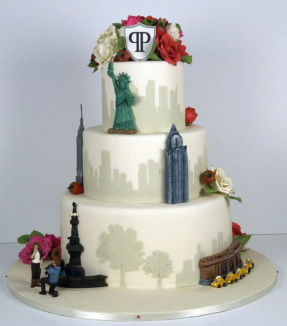 W9051 New York City Wedding Cake New York Cake City Cake Nyc Cake