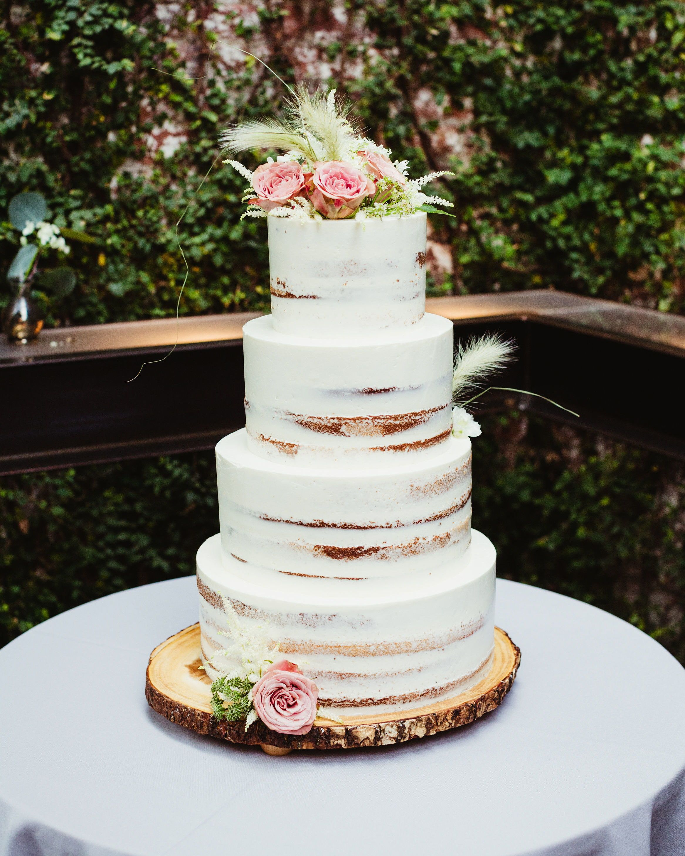 An Enchanting Summer Wedding In New York City Wedding Cake Pink Flowers Pink Wedding Cake Wedding Cake Rustic