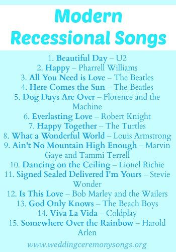 Recessional Songs Wedding Ceremony Music Wedding Recessional