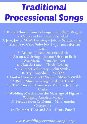 Processional Songs Wedding Ceremony Music Wedding Ceremony