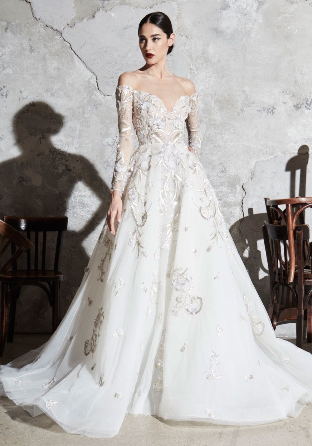 Zuhair Murad Spring 2020 Bridal Floriane Wedding Dress Wedding