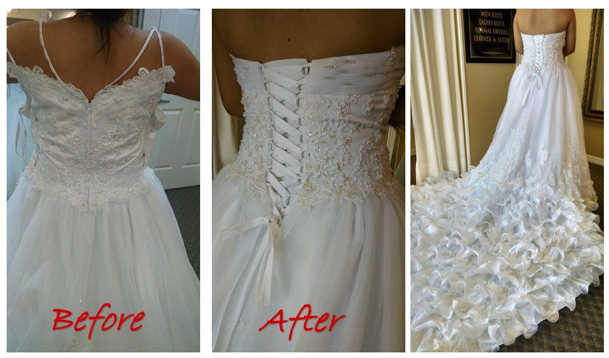 Wedding Gown Alteration From Zipper To Corset Wedding Gown