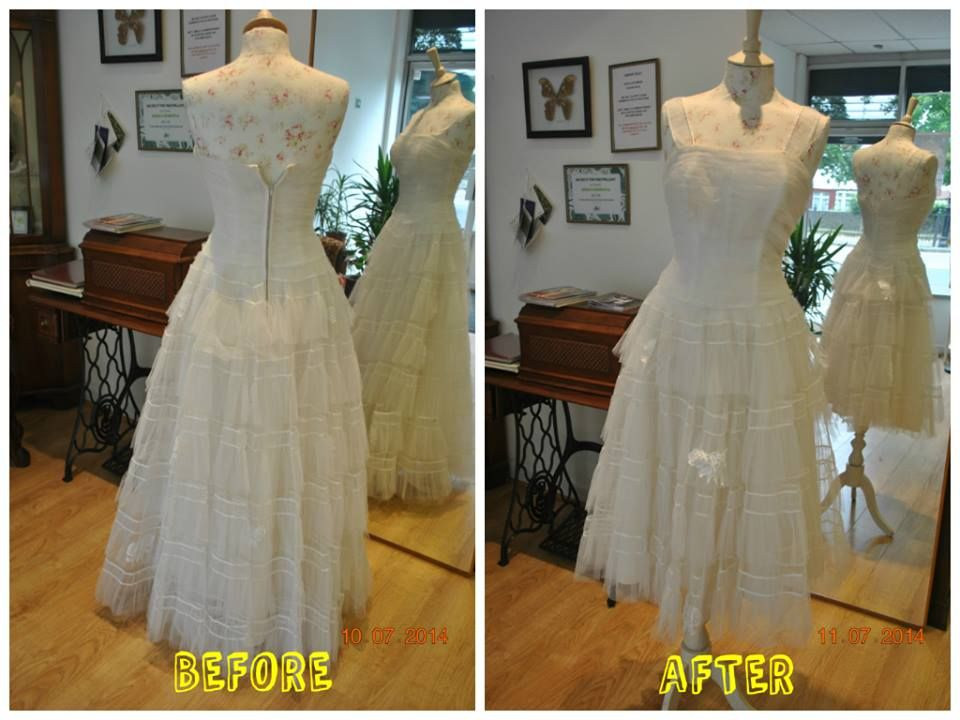 Vintage Wedding Dress Before And After Alteration Result Added