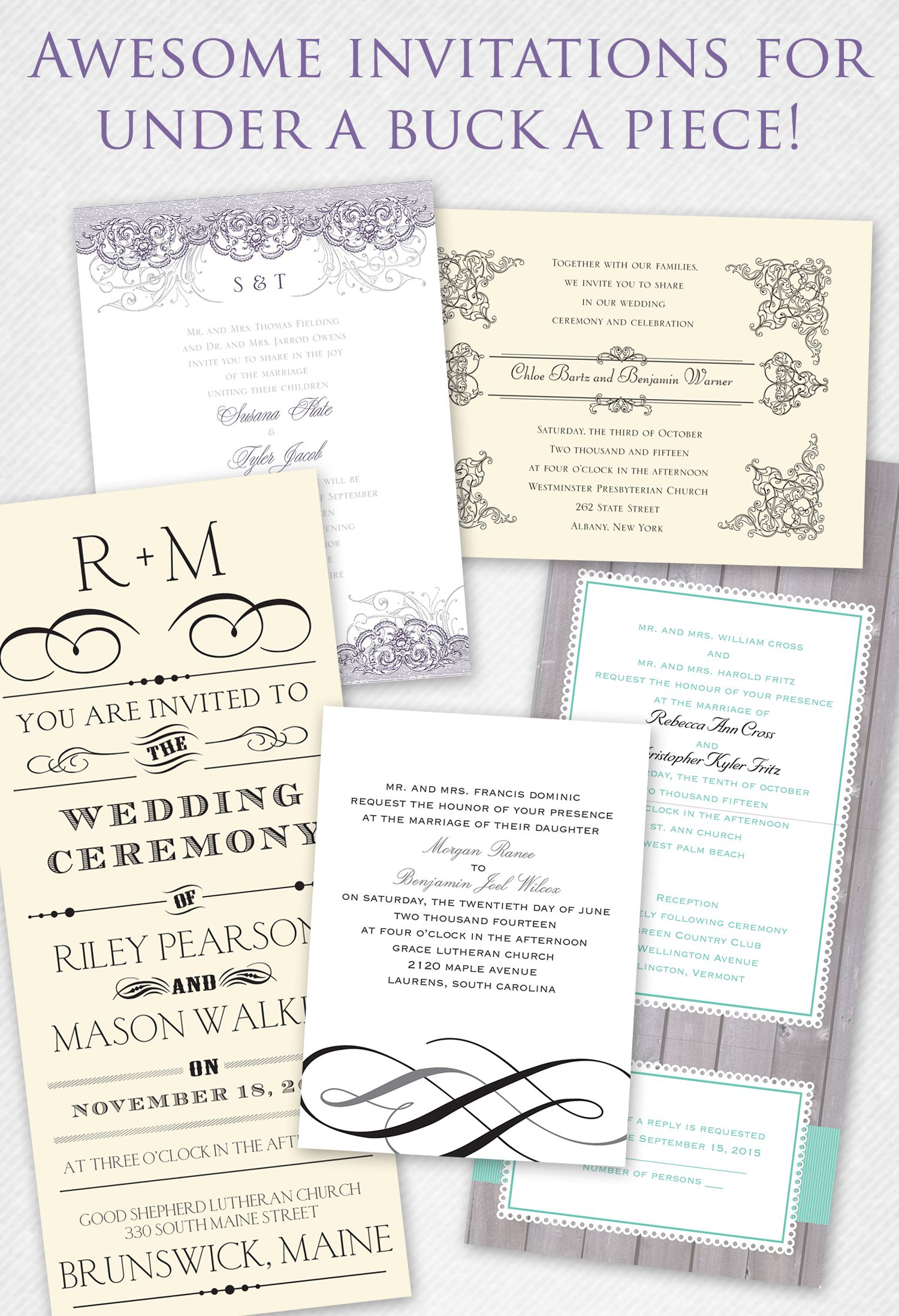 Talk About Affordable Wedding Invites Under 1 A Piece