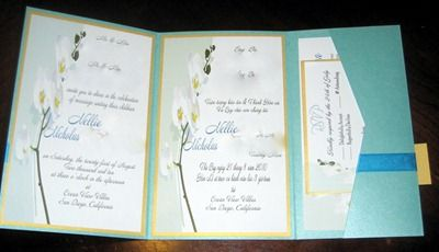 Diy Tutorial Tri Fold Pocketfold Invitations Pocketfold