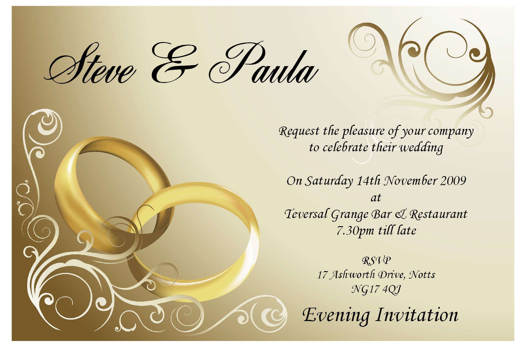 Wedding Invitation Card Design Online Free Invite Card Ideas