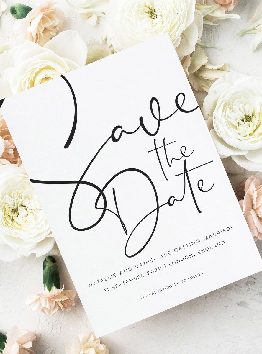 Save The Date Cards For Modern Weddings In 2020