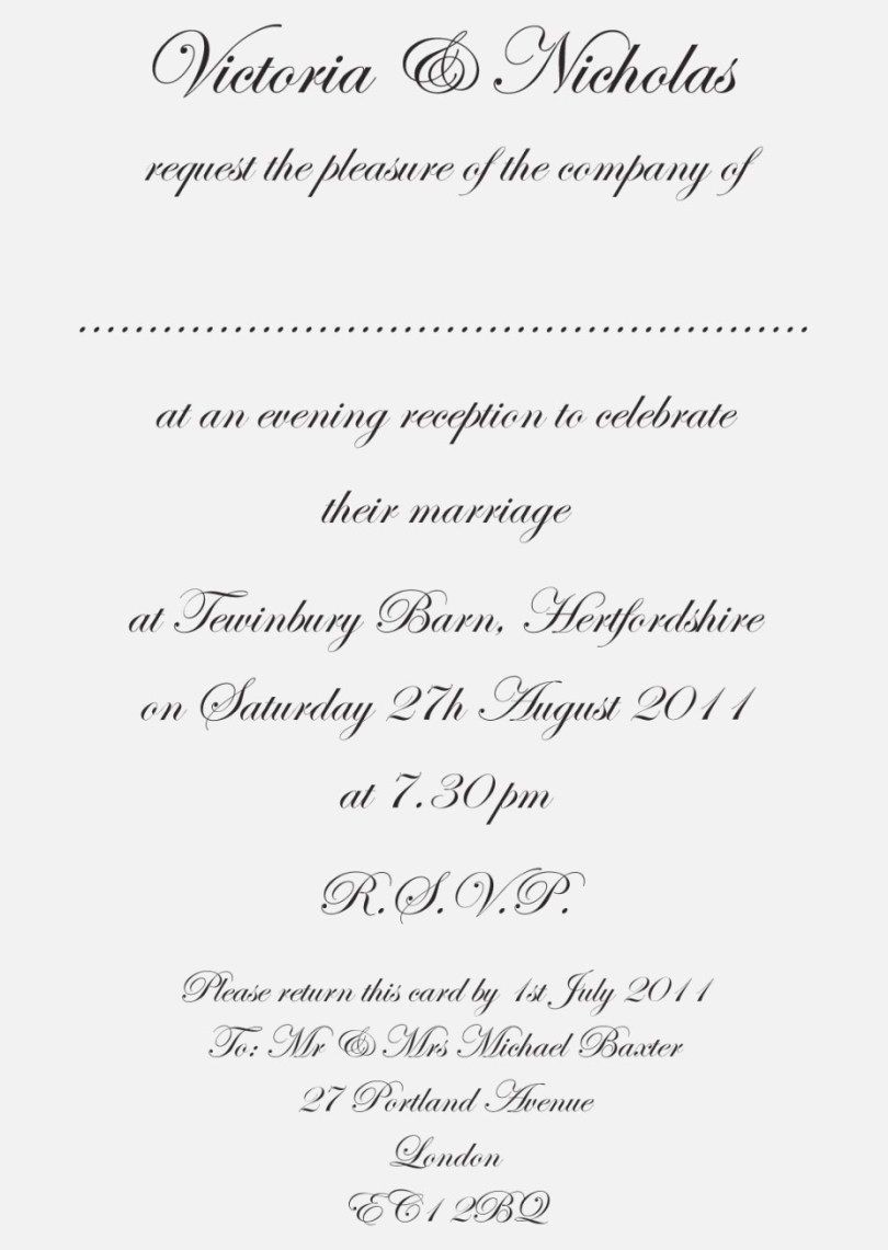 24 Amazing Picture Of Wedding Invitations Text Wedding