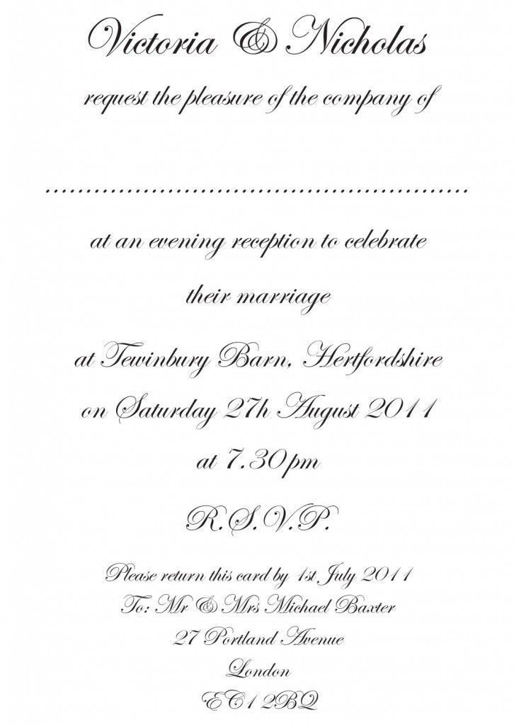 Simple And Sober But Also Very Attractive Wedding Invitation
