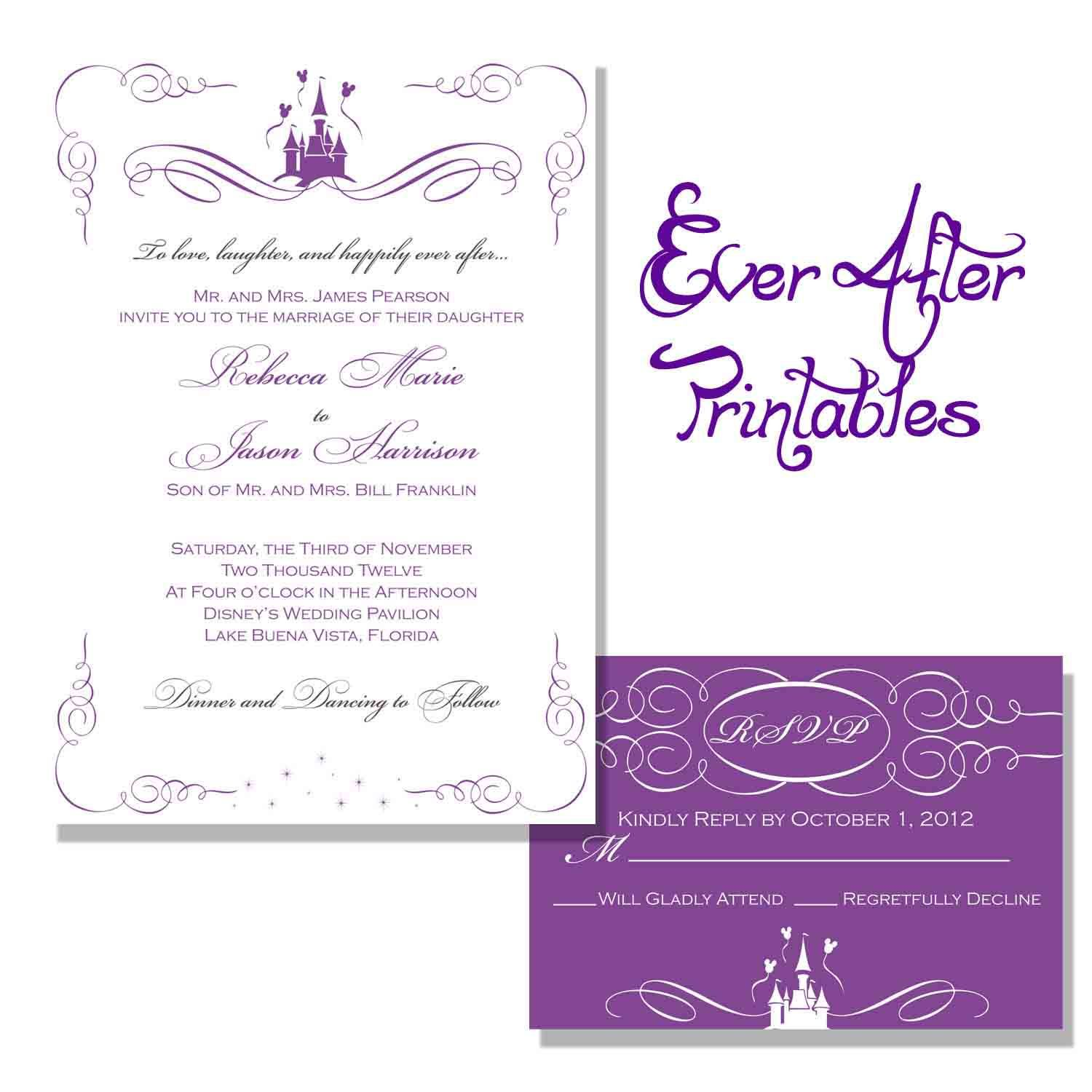 Wedding Invitation Wording Wording Disney Wedding Invitations