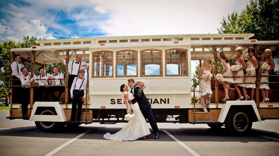 Consider A Classic Trolley To Transport You And Your Wedding Party To The Ceremon Wedding Transportation Wedding Getaway Car Northern California Wedding Venues
