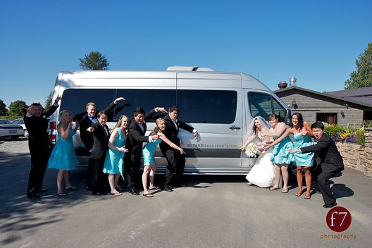 Wedding Party Transportation In Our Mercedes Benz Sprinters Photo By F7 Photography Wedding Transportation Seattle Wedding Wedding Service