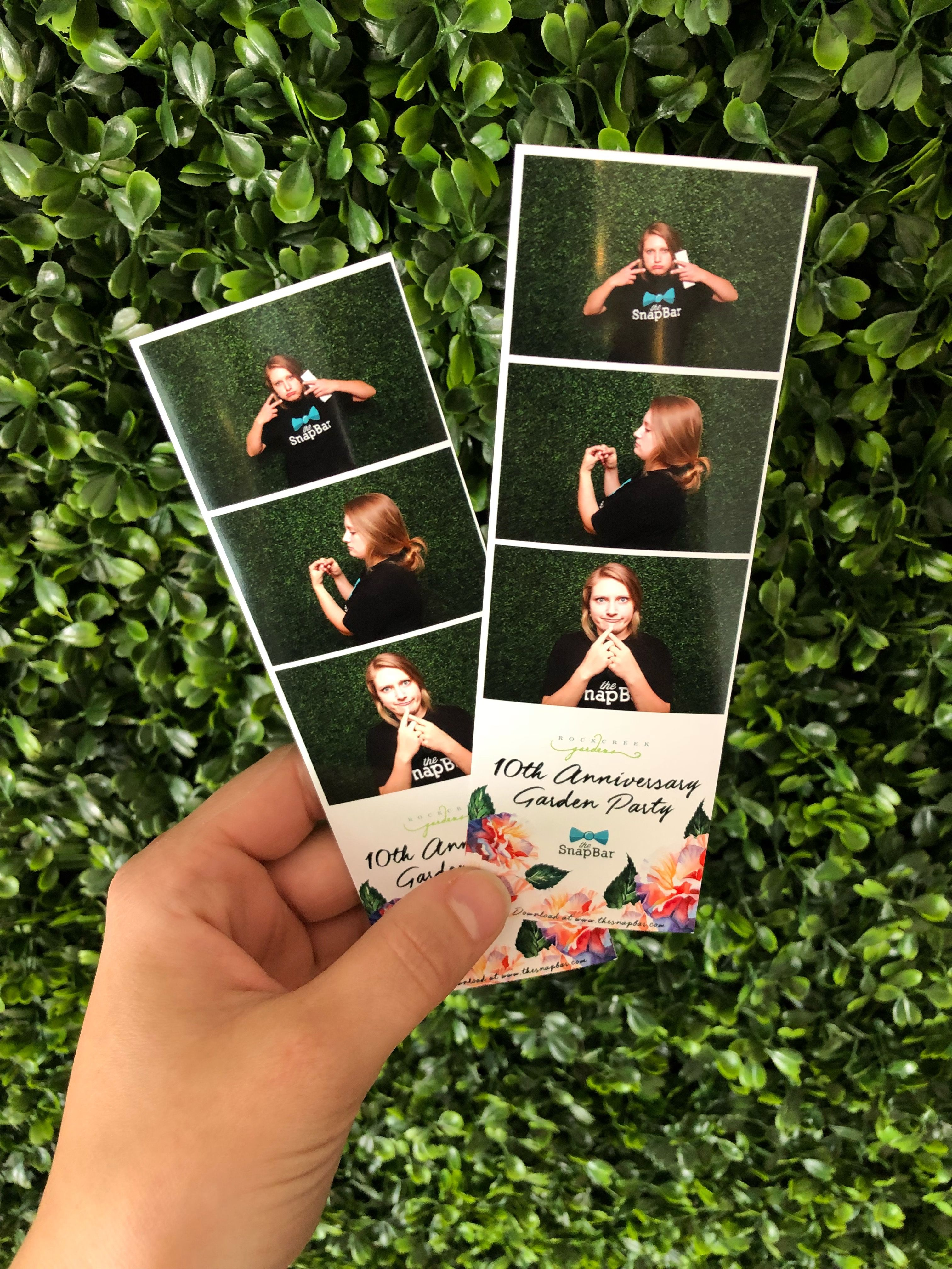 Simple Design Hedge Backdrop Portland Photo Booth Seattle Photo