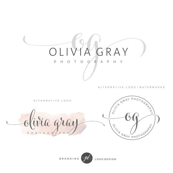 Photography Logo Package Premade Initials Logo Branding Kit