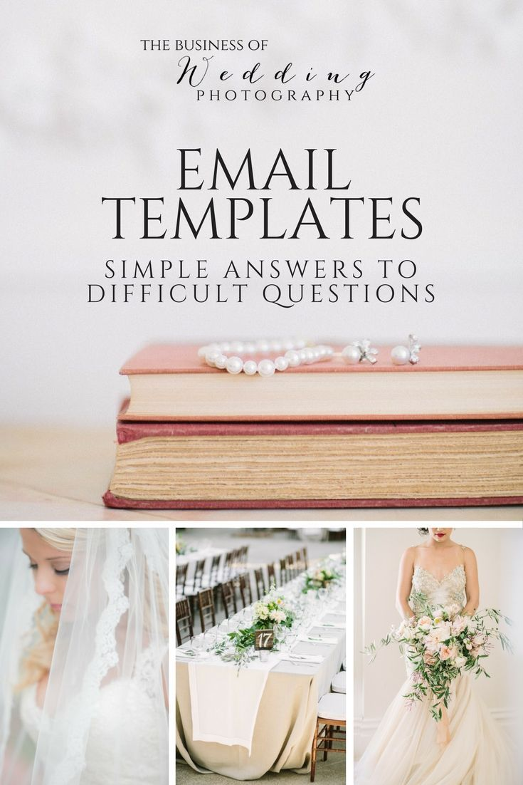 Email Templates Simple Answers To Difficult Questions Wedding