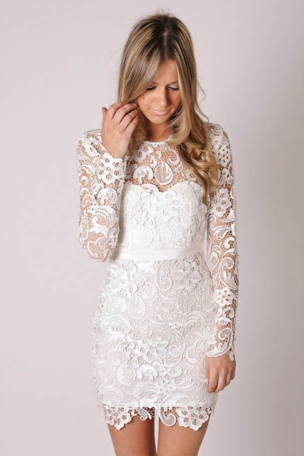 30 Gorgeous Reception Dress For The Bride To Be Short Lace