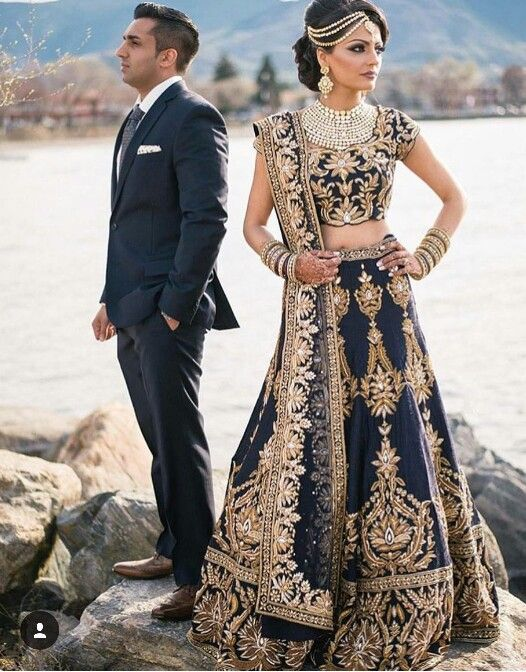 Indian Bride And Groom Indian Outfits Wedding Reception Outfit