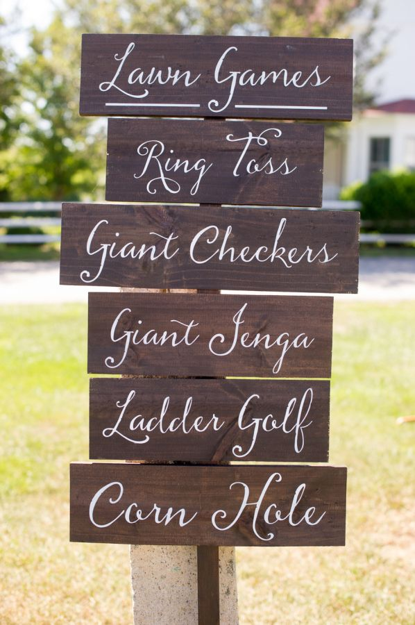 Rustic Floral Filled Connecticut Winery Wedding Yard Games