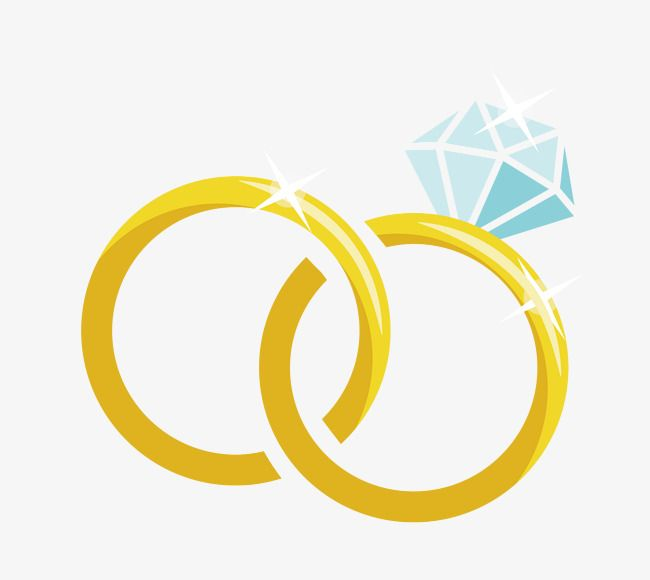 Isolated Cartoon Diamond Wedding Ring Vector Image On In 2020
