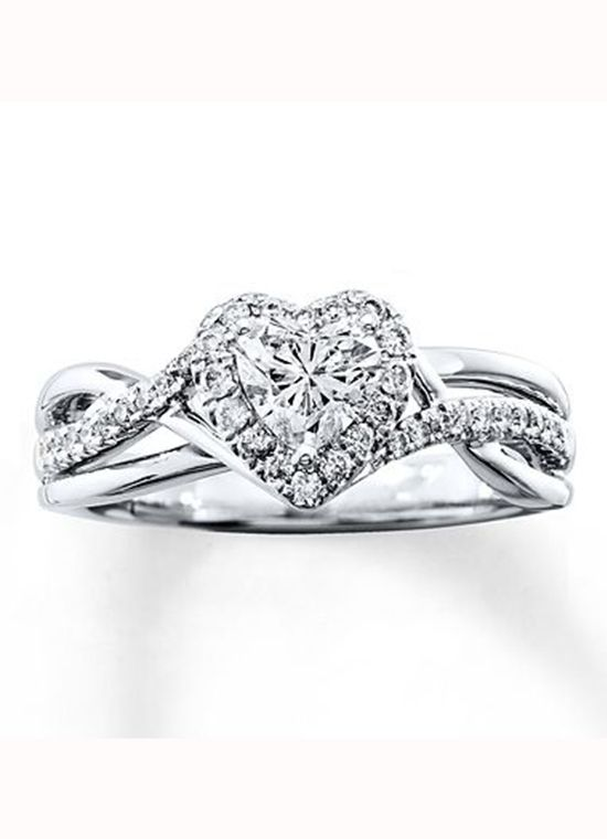 Kay Jewelers Heart Shaped Engagement Ring Heart Engagement Rings