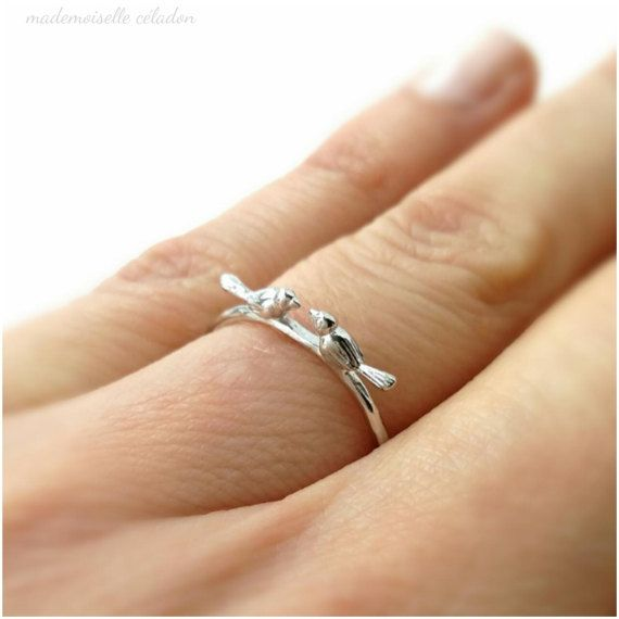 Ring Bird Lover Silver 925 000 Material Silver 925 000