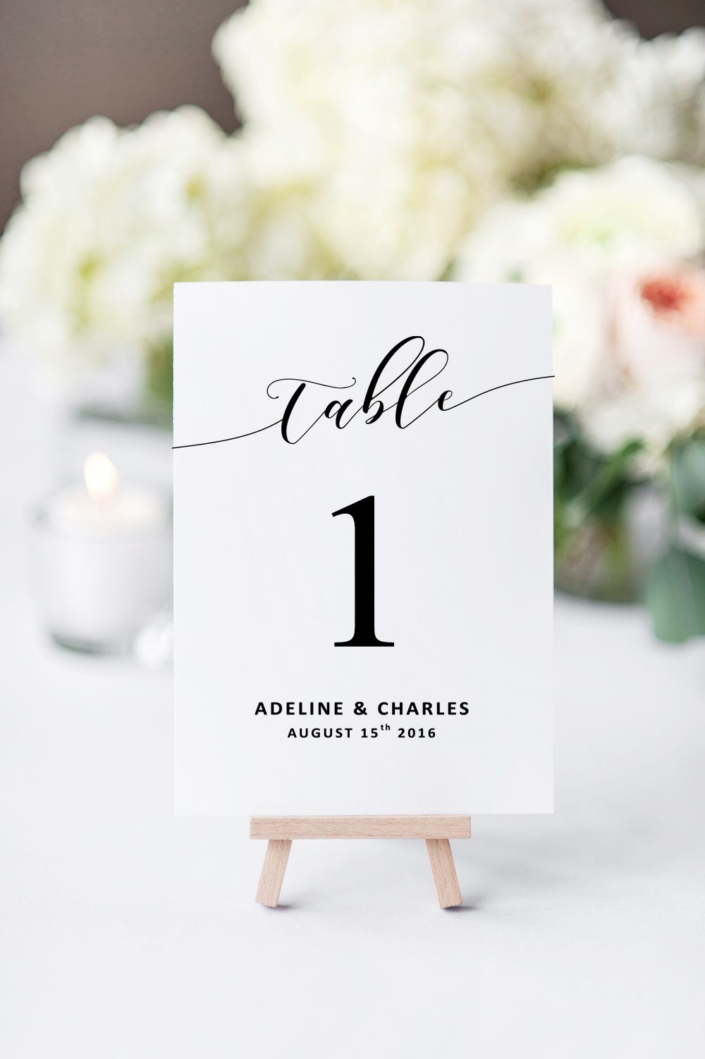 Printable Wedding Table Numbers For Your Wedding Reception Weddin Wedding Table Numbers Printable Wedding Reception Decorations Wedding Reception Invitations