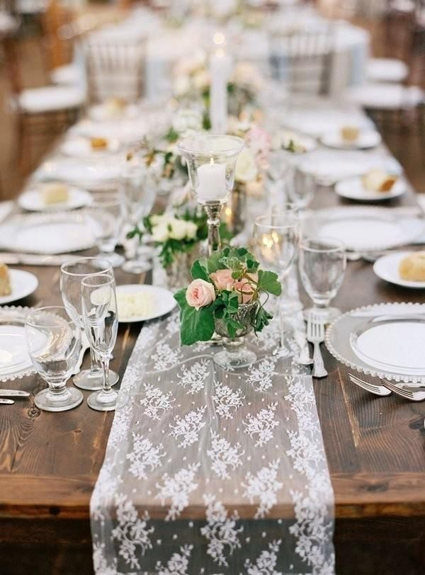 9 Trending Table Runners For Weddings Table Arrangements Wedding