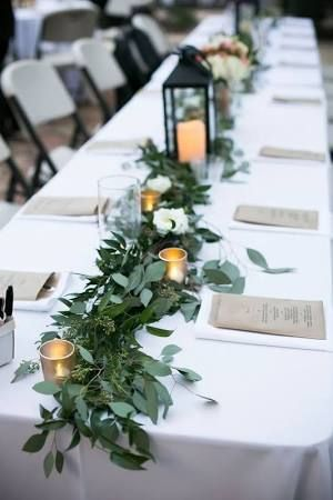 Diy Natural Leaf Table Runner Google Search Eucalyptus Wedding