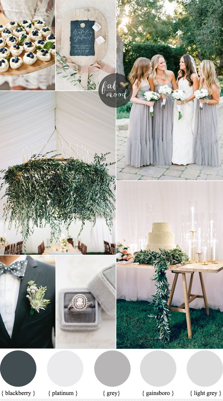 Shades Of Grey Wedding Colour Theme For Outdoor Summer Wedding Grey Wedding Colour Theme Wedding Theme Color Schemes Wedding Theme Colors