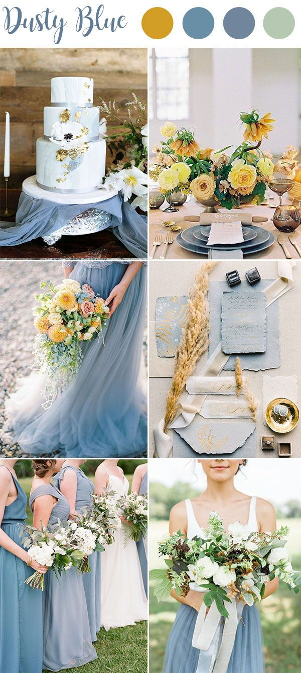 9 Ultimate Dusty Blue Color Combinations For Wedding Wedding Theme Colors Wedding Color Schemes Spring Wedding Color Combinations