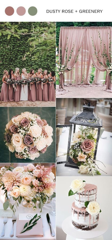Top 10 Wedding Color Ideas For 2018 Trends Dusty Rose Wedding Rose Wedding Wedding Themes