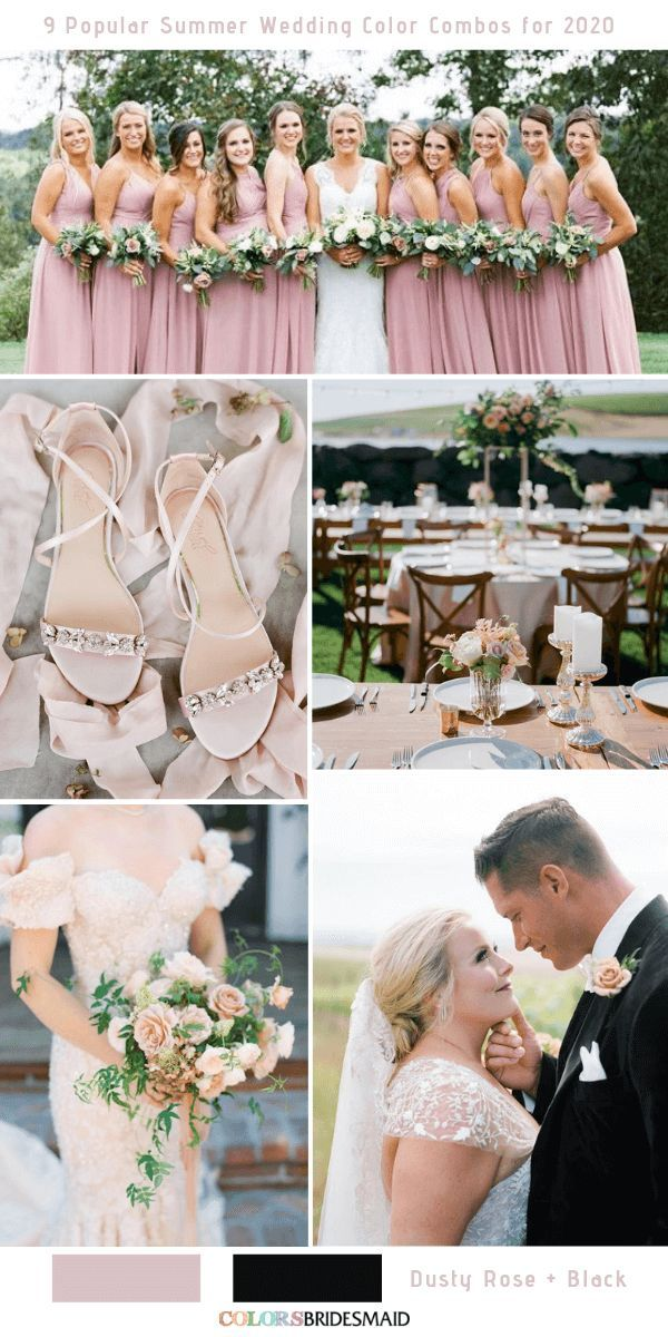 9 Popular Summer Wedding Color Combos For 2020 Summer Wedding Colors Wedding Colors Wedding Color Combos