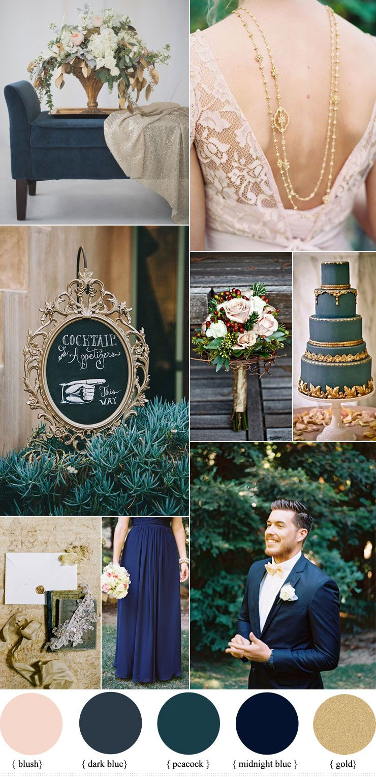 Dark Blue And Gold Wedding Theme Blue Themed Wedding Wedding Theme Colors Gold Wedding Theme