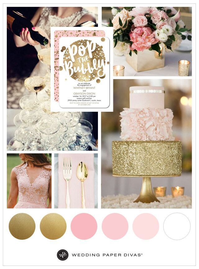 Pink And Gold Wedding Theme Ideas For Spring Wedding Theme Gold