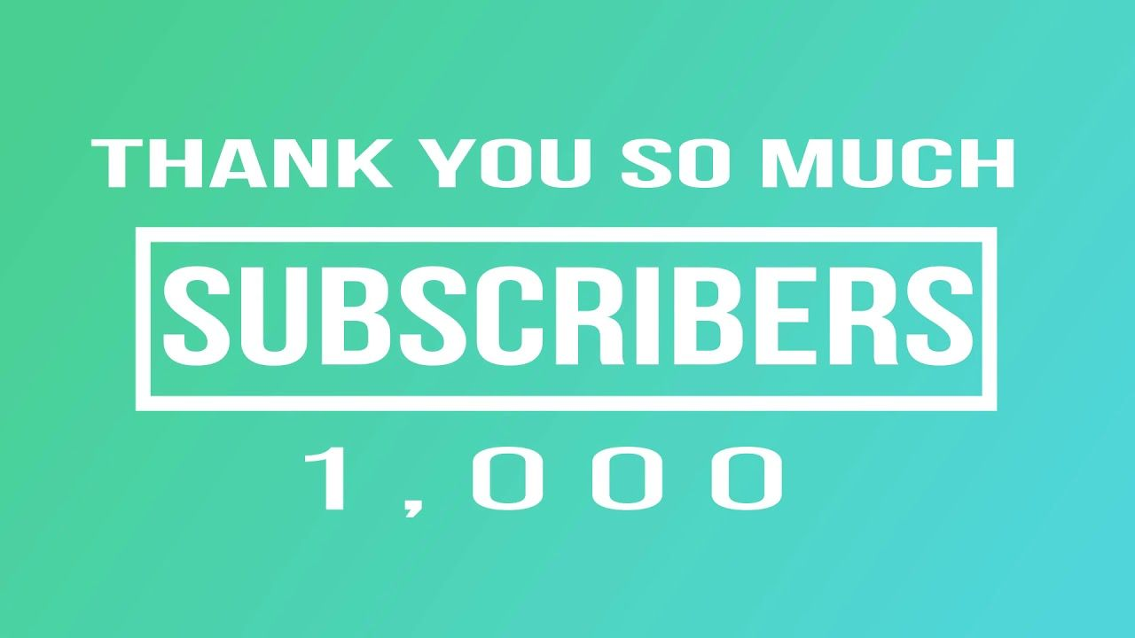 Thank You So Much 1 000 Subscribers Wedding Video Editor