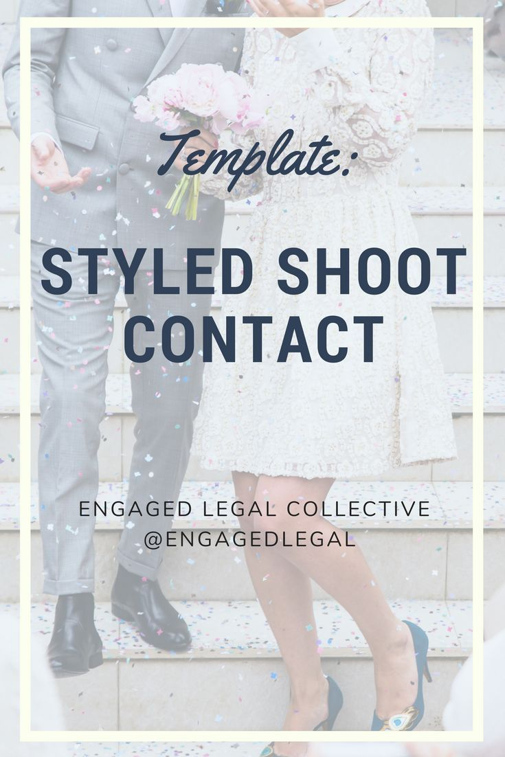 Styled Shoot Agreement For Wedding Planners Photographers